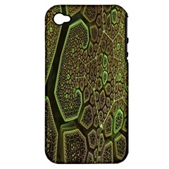 Fractal Complexity 3d Dimensional Apple iPhone 4/4S Hardshell Case (PC+Silicone)