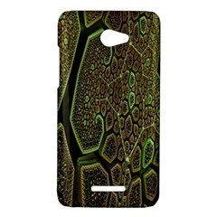 Fractal Complexity 3d Dimensional HTC Butterfly X920E Hardshell Case