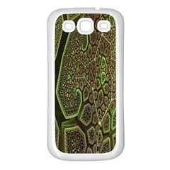 Fractal Complexity 3d Dimensional Samsung Galaxy S3 Back Case (White)