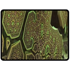 Fractal Complexity 3d Dimensional Double Sided Fleece Blanket (Large)