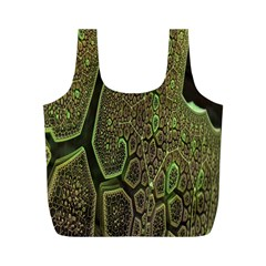Fractal Complexity 3d Dimensional Full Print Recycle Bags (M)