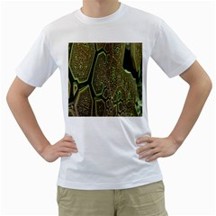 Fractal Complexity 3d Dimensional Men s T-Shirt (White)