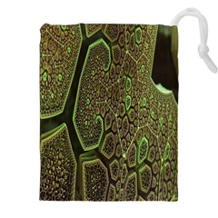 Fractal Complexity 3d Dimensional Drawstring Pouches (XXL)