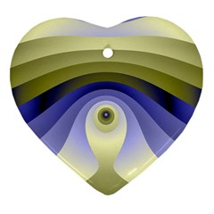 Fractal Eye Fantasy Digital  Ornament (Heart)