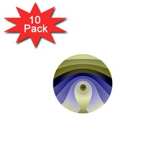 Fractal Eye Fantasy Digital  1  Mini Buttons (10 pack)
