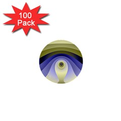 Fractal Eye Fantasy Digital  1  Mini Buttons (100 pack)