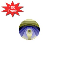 Fractal Eye Fantasy Digital  1  Mini Magnets (100 pack)