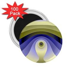 Fractal Eye Fantasy Digital  2.25  Magnets (100 pack)