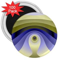 Fractal Eye Fantasy Digital  3  Magnets (100 pack)