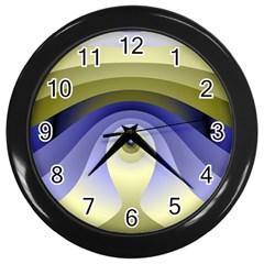 Fractal Eye Fantasy Digital  Wall Clocks (Black)