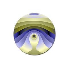 Fractal Eye Fantasy Digital  Magnet 3  (Round)