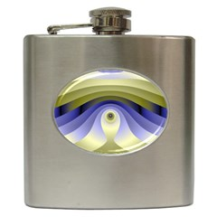 Fractal Eye Fantasy Digital  Hip Flask (6 oz)