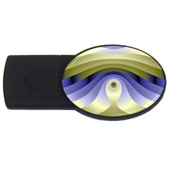 Fractal Eye Fantasy Digital  USB Flash Drive Oval (2 GB)
