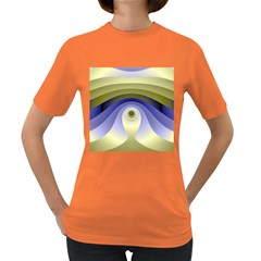 Fractal Eye Fantasy Digital  Women s Dark T-Shirt