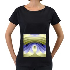 Fractal Eye Fantasy Digital  Women s Loose-Fit T-Shirt (Black)