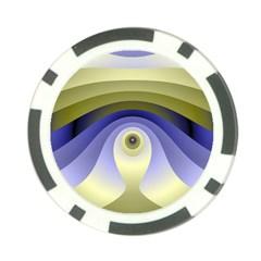 Fractal Eye Fantasy Digital  Poker Chip Card Guards