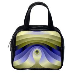 Fractal Eye Fantasy Digital  Classic Handbags (One Side)