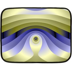 Fractal Eye Fantasy Digital  Double Sided Fleece Blanket (Mini)