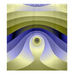 Fractal Eye Fantasy Digital  Shower Curtain 66  x 72  (Large)
