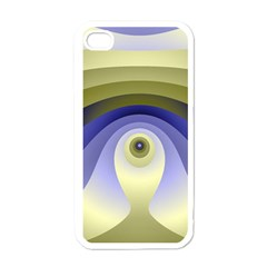 Fractal Eye Fantasy Digital  Apple iPhone 4 Case (White)