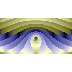 Fractal Eye Fantasy Digital  YOU ARE INVITED 3D Greeting Card (8x4)