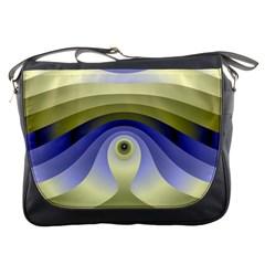 Fractal Eye Fantasy Digital  Messenger Bags