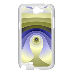 Fractal Eye Fantasy Digital  Samsung Galaxy Note 2 Case (White)