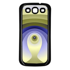 Fractal Eye Fantasy Digital  Samsung Galaxy S3 Back Case (Black)