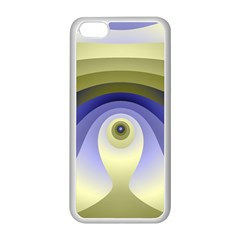 Fractal Eye Fantasy Digital  Apple iPhone 5C Seamless Case (White)