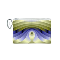 Fractal Eye Fantasy Digital  Canvas Cosmetic Bag (S)