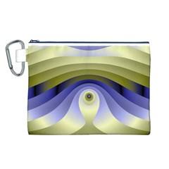Fractal Eye Fantasy Digital  Canvas Cosmetic Bag (L)