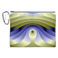 Fractal Eye Fantasy Digital  Canvas Cosmetic Bag (XXL)