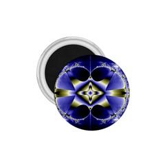 Fractal Fantasy Blue Beauty 1.75  Magnets