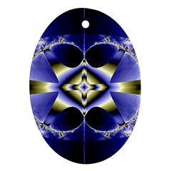 Fractal Fantasy Blue Beauty Ornament (Oval)