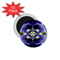 Fractal Fantasy Blue Beauty 1.75  Magnets (10 pack)