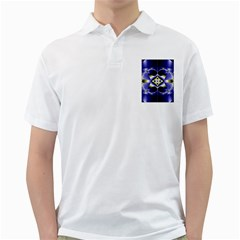 Fractal Fantasy Blue Beauty Golf Shirts