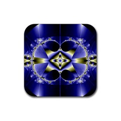 Fractal Fantasy Blue Beauty Rubber Coaster (Square)
