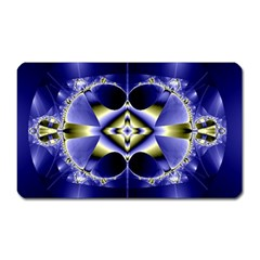 Fractal Fantasy Blue Beauty Magnet (Rectangular)