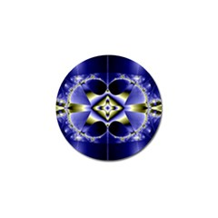 Fractal Fantasy Blue Beauty Golf Ball Marker