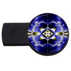 Fractal Fantasy Blue Beauty USB Flash Drive Round (2 GB)