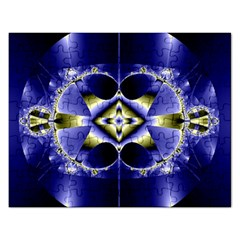 Fractal Fantasy Blue Beauty Rectangular Jigsaw Puzzl