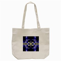 Fractal Fantasy Blue Beauty Tote Bag (Cream)