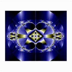 Fractal Fantasy Blue Beauty Small Glasses Cloth