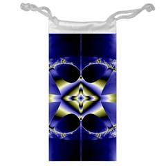 Fractal Fantasy Blue Beauty Jewelry Bags