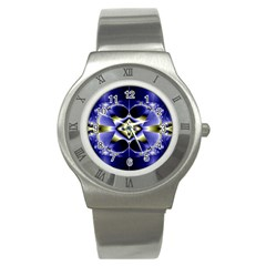 Fractal Fantasy Blue Beauty Stainless Steel Watch