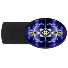 Fractal Fantasy Blue Beauty USB Flash Drive Oval (4 GB)
