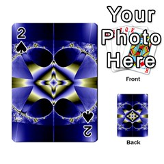 Fractal Fantasy Blue Beauty Playing Cards 54 Designs