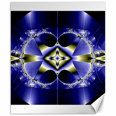 Fractal Fantasy Blue Beauty Canvas 20  x 24
