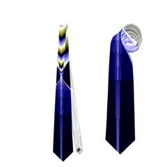 Fractal Fantasy Blue Beauty Neckties (One Side)