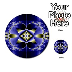 Fractal Fantasy Blue Beauty Multi-purpose Cards (Round)